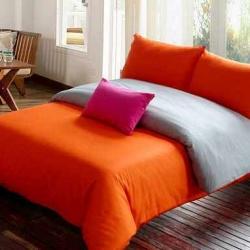 Sprei Polos orange-vs-abu-abu