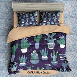 Sprei CATRA Blue Cactus