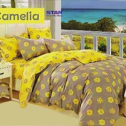 Sprei Star Camelia-Abu2-kuning-2