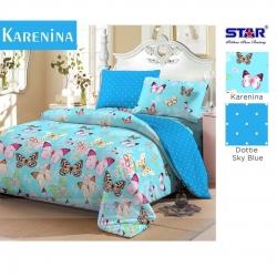 Sprei Star Karenina-Biru