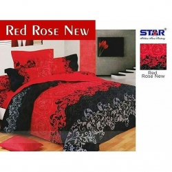 Sprei Star Red-Rose-New