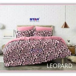 Sprei STAR Leopard Pink