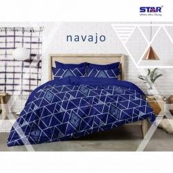 Sprei STAR Navajo Biru