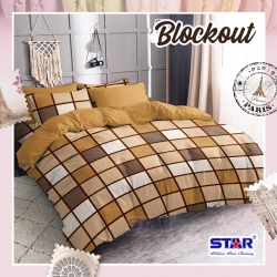 Sprei STAR Blockout Coklat