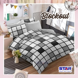 Sprei STAR Blockout Abu-Abu