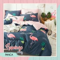 Sprei PANCA Flamingo Navy