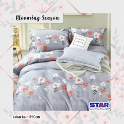 Sprei STAR Blooming Season Abu-Abu