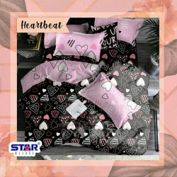 Sprei STAR Heart Beat Hitam