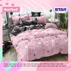 Sprei STAR Heart Beat Pink