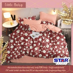 Sprei STAR Little Daisy Maroon