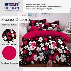 sprei-star-sakura-dream-hitam
