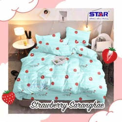 Sprei STAR Strawberry Saranghae Toska