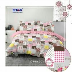 Sprei STAR Flower Joy Pink