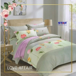Sprei STAR Love Affair Abu-Abu