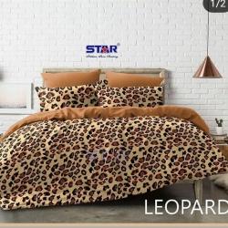 Sprei STAR Leopard Coklat