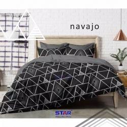 Sprei STAR Navajo Hitam