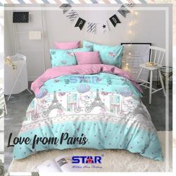 Sprei STAR Love From Paris Hijau