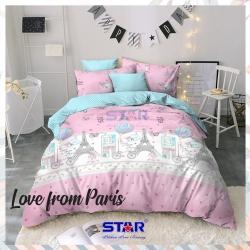 Sprei STAR Love From Paris Pink