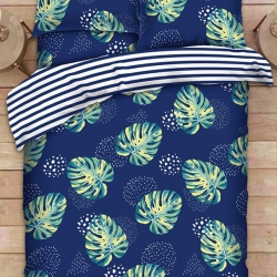Sprei CATRA Monstera Flare Blue