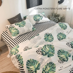 Sprei CATRA Monstera Flare White