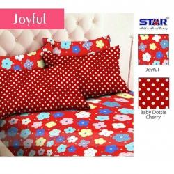 sprei-star-joyful-merah