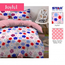 sprei-star-joyful-pink