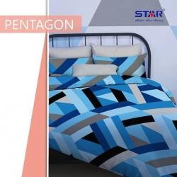 sprei-star-pentagon-biru
