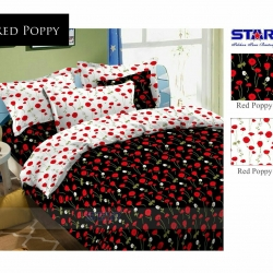 Sprei Star red-poppy