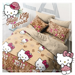 Sprei STAR Hello Kitty Leopard Coklat