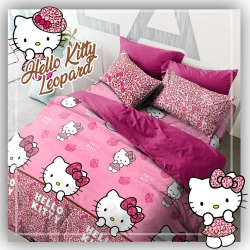 Sprei STAR Hello Kitty Leopard Pink