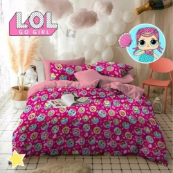 Sprei STAR LOL Go Girl Pink