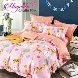Sprei MAGENTA Giraffe Pink