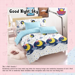 Sprei STAR Good Night Sky Putih