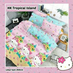 Sprei STAR HK Tropical Island Pink