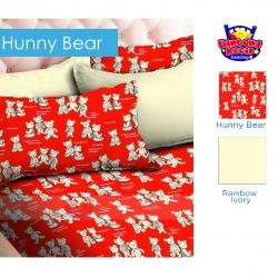 sprei-star-hunny-bear-merah