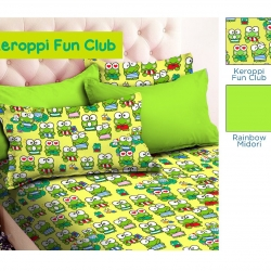 sprei-star keroppi-fun-club-hijau