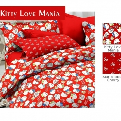 sprei-star-kitty-love-mania-merah