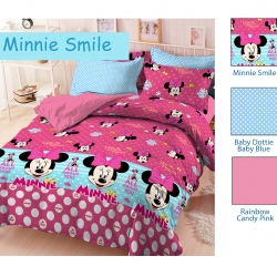 sprei-star-minnie-smile-pink