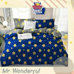 Sprei STAR Mr. Wonderful Biru