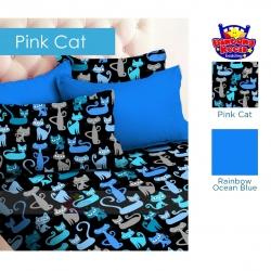sprei-star-pinkcat-biru