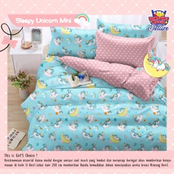 Sprei STAR Sleepy Unicorn Mini Biru