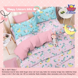 Sprei STAR Sleepy Unicorn Mini Pink