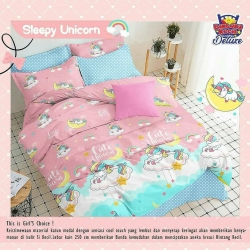 Sprei STAR Sleepy Unicorn Pink