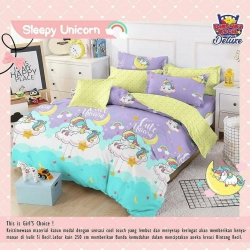 Sprei STAR Sleepy Unicorn Ungu