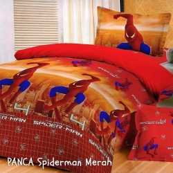 panca-spiderman-merah