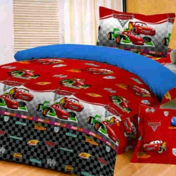 Sprei Star cars-2-merah