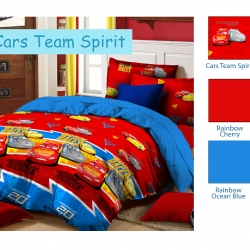 sprei-star-cars-team-spirit-merah