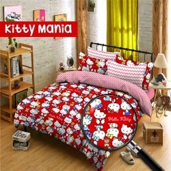 Sprei Star kitty-mania-merah