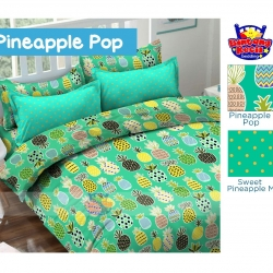 sprei-star-pineapple-pop-hijau