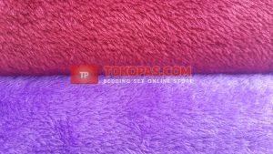 Selimut Polos Daily Blanket Bulu Lembut - Tampak Bulu
